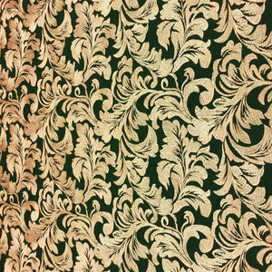 Gold Ashlee Floral Lace Fabric - Fashion Fabrics Los Angeles