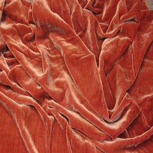 Light Cognac Brown Silk Velvet Fabric - Fashion Fabrics Los Angeles
