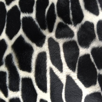 Black Giraffe Velboa Faux Fur - Fashion Fabrics Los Angeles