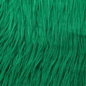 Green Luxury Long Pile Shaggy Faux Fur Fabric - Fashion Fabrics Los Angeles