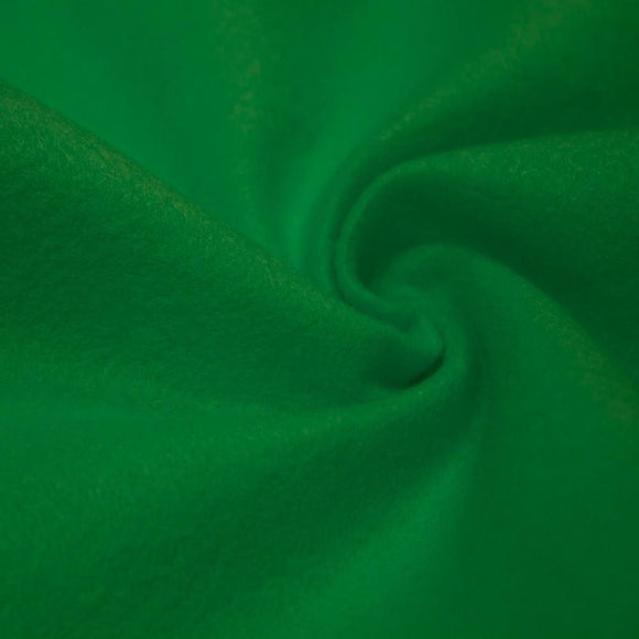 Kelly Green Solid Acrylic Felt Fabric - Fashion Fabrics Los Angeles