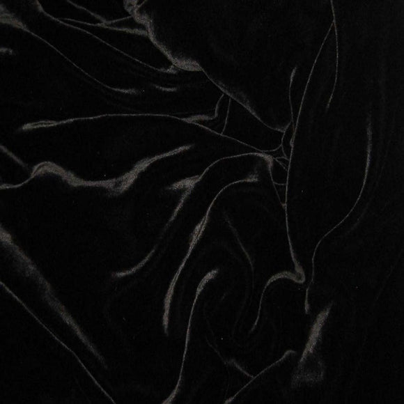 Black Silk Velvet Fabric