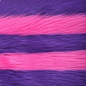Fuchsia Purple Striped Faux Fur Fabric - Fashion Fabrics Los Angeles