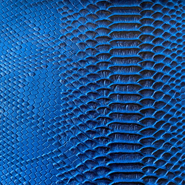 Blue Black Two Tone Faux Viper Sopythana Snake Skin Vinyl - Fashion Fabrics Los Angeles