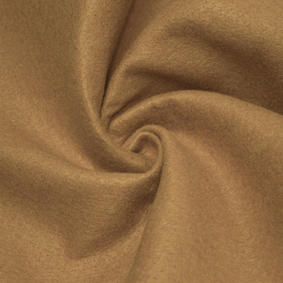 Light Caramel Solid Acrylic Felt Fabric - Fashion Fabrics Los Angeles