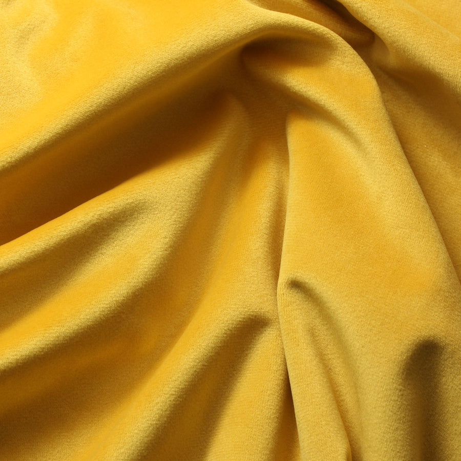 Maize Yellow Camden Velvet Polyester Upholstery Drapery Fabric - Fashion Fabrics Los Angeles