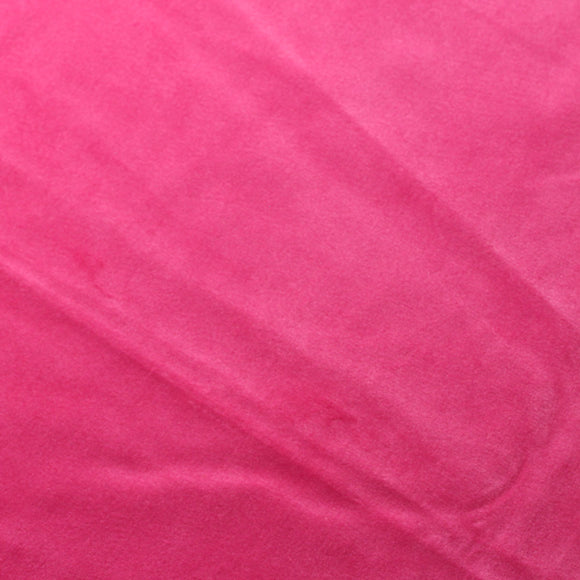 Neon Pink Camden Velvet Polyester Upholstery Drapery Fabric - Fashion Fabrics Los Angeles