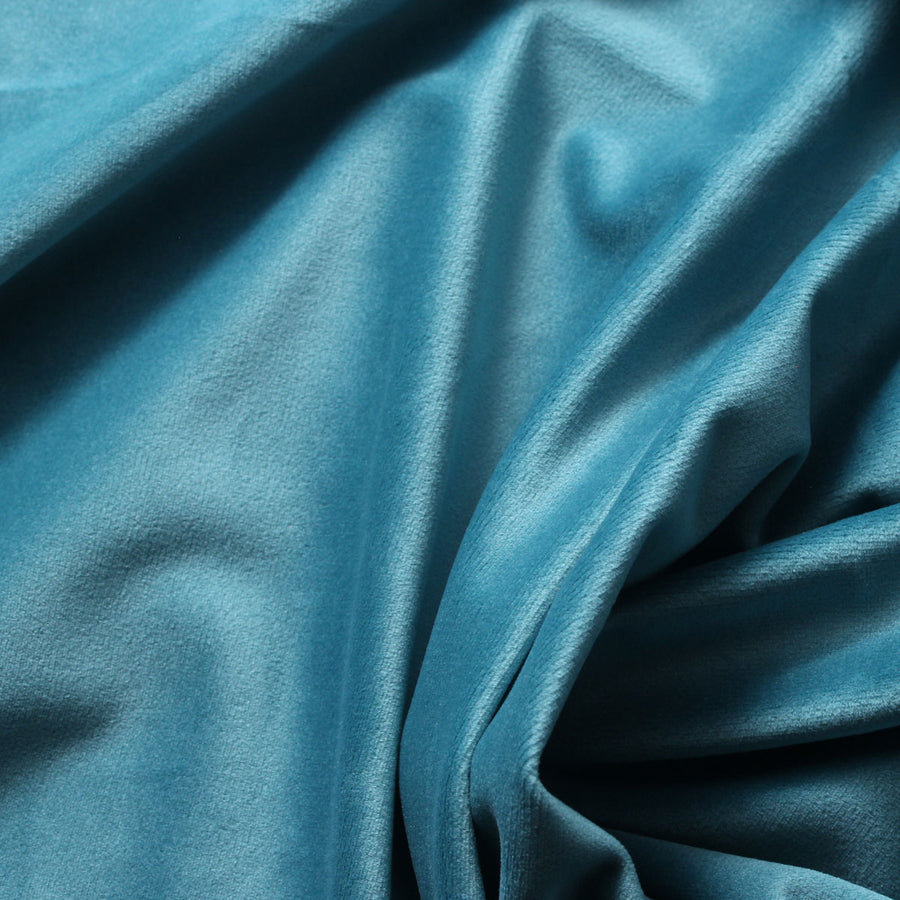 Olympic Blue Camden Velvet Polyester Upholstery Drapery Fabric - Fashion Fabrics Los Angeles