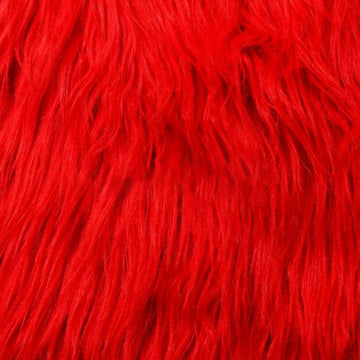Red Luxury Long Pile Shaggy Faux Fur Fabric - Fashion Fabrics Los Angeles
