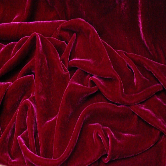 Magenta Silk Velvet Fabric - Fashion Fabrics Los Angeles