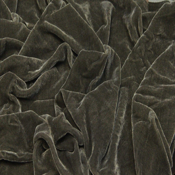 Espresso Brown Silk Velvet Fabric - Fashion Fabrics Los Angeles