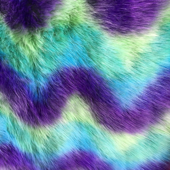 Loover Waves Multicolor Faux Fur Fabric