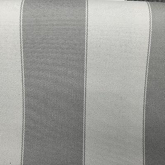 Light Gray Ivory Striped Outdoor Canvas Fabric - Fashion Fabrics Los Angeles
