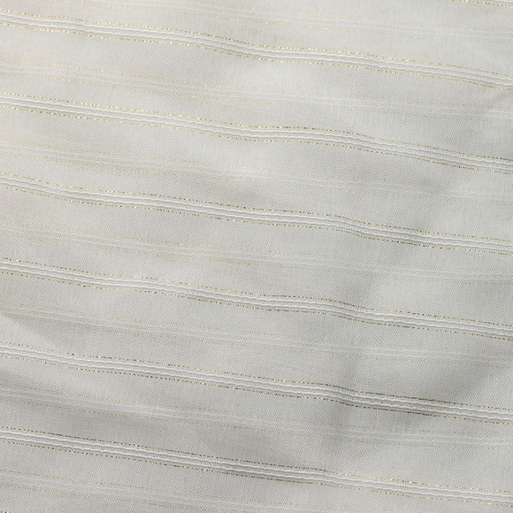 Ivory Gold Roman Stripe Sheer Drapery Home Decor Fabric - Fashion Fabrics Los Angeles