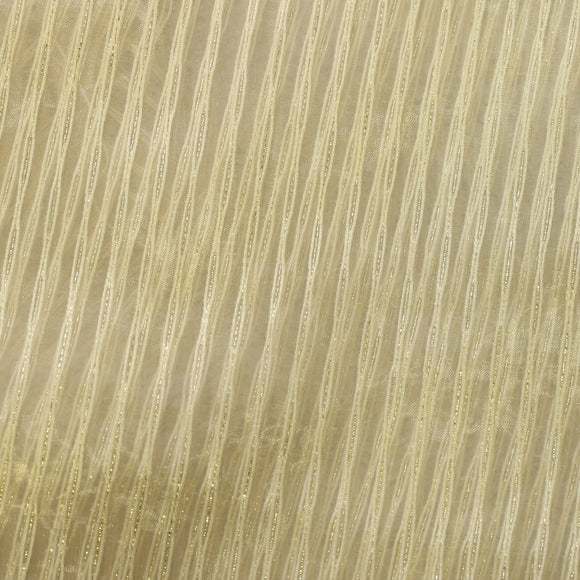 Ivory Angel Striped Sheer Drapery Home Decor Fabric - Fashion Fabrics Los Angeles