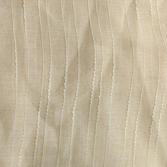 Ivory Drip Stripe Sheer Drapery Home Decor Fabric - Fashion Fabrics Los Angeles