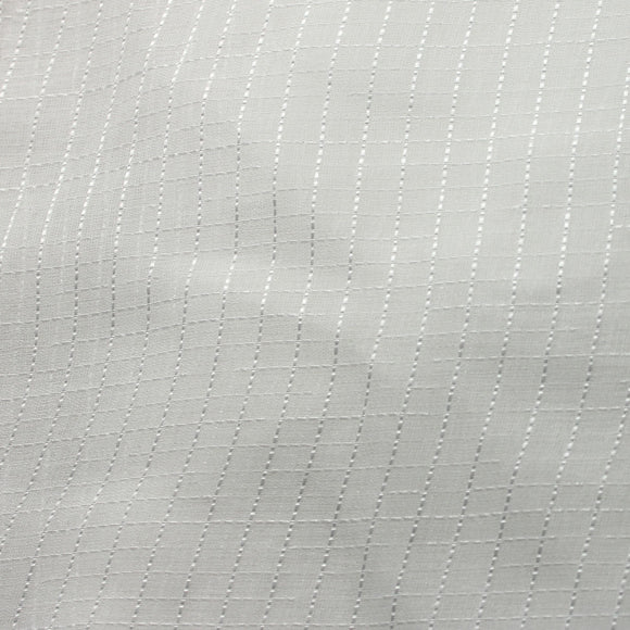 White Semi Square Stripe Sheer Drapery Home Decor Fabric - Fashion Fabrics Los Angeles