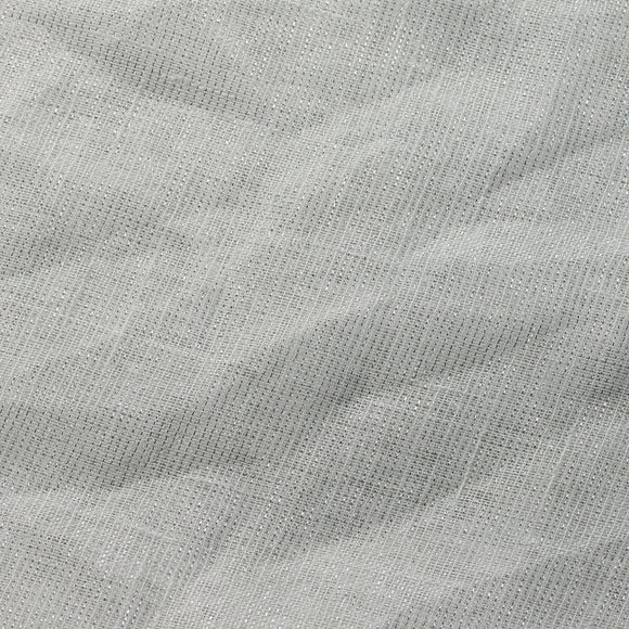 White Silver Shine Stripe Sheer Drapery Home Decor Fabric - Fashion Fabrics Los Angeles