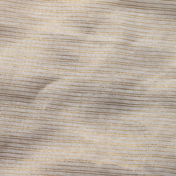 Ivory Gold Two Shine Stripe Sheer Drapery Home Decor Fabric - Fashion Fabrics Los Angeles