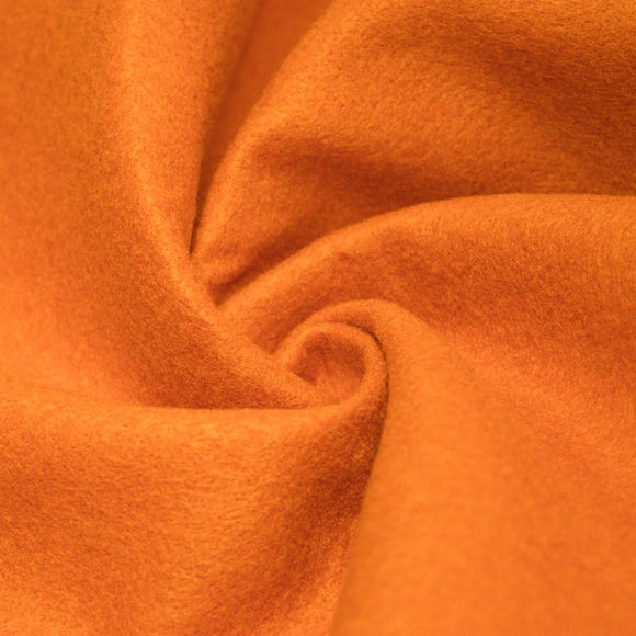 Orange Solid Acrylic Felt Fabric - Fashion Fabrics Los Angeles
