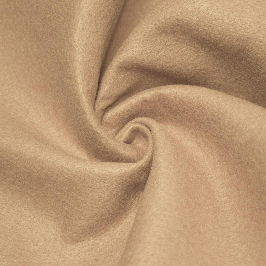 Taupe Solid Acrylic Felt Fabric - Fashion Fabrics Los Angeles