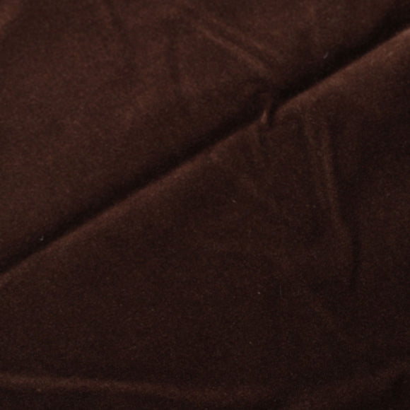 Chocolate Brown Cotton Velvet Upholstery Drapery Fabric - Fashion Fabrics Los Angeles
