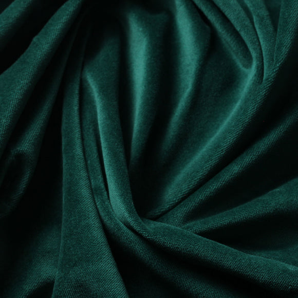 Kelly Green Cotton Velvet Upholstery Drapery Fabric - Fashion Fabrics Los Angeles