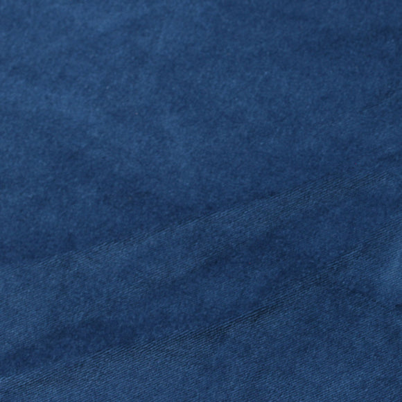 Navy Blue Cotton Velvet Upholstery Drapery Fabric - Fashion Fabrics Los Angeles