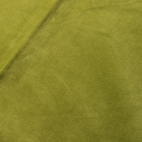 Olive Green Drab Cotton Velvet Upholstery Drapery Fabric - Fashion Fabrics Los Angeles