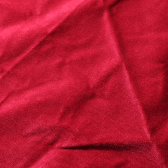 Scarlet Red Cotton Velvet Upholstery Drapery Fabric - Fashion Fabrics Los Angeles