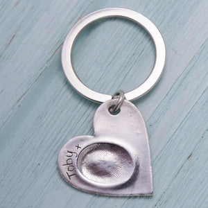 Heart Fingerprint Keychain