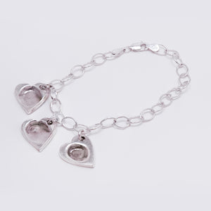 Light Cable Chain Bracelet with Fingerprint Charm