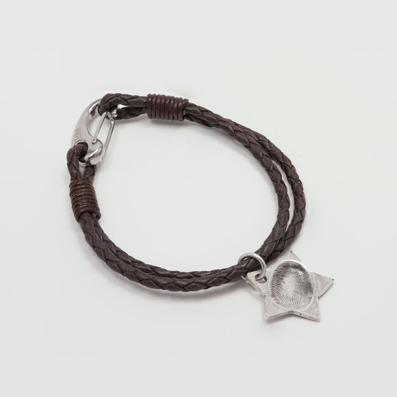 Antique Leather Charm Bracelet