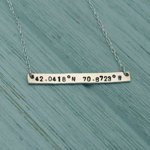 Coordinate Bar Pendant