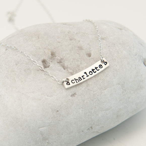 Name Bar Necklace for one name