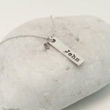 Oblong Name Tag Pendant