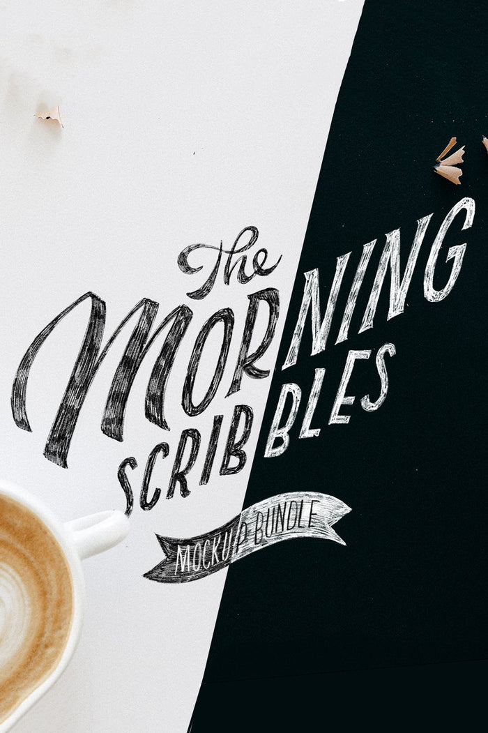 THE MORNING SCRIBBLES - 17 PROCREATE+PSD FILES BACKGROUNDS