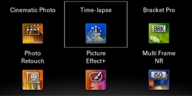 builtin timelapse App in Sony