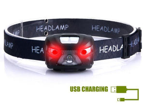 Red LED Headlamp
