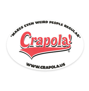 Crapola - Oval Sticker