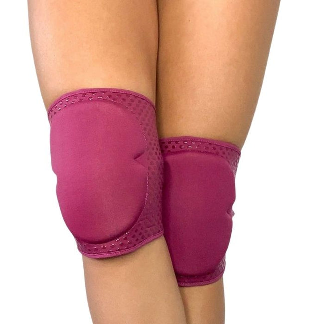 Sticky Silicone Knee Pads in Wine