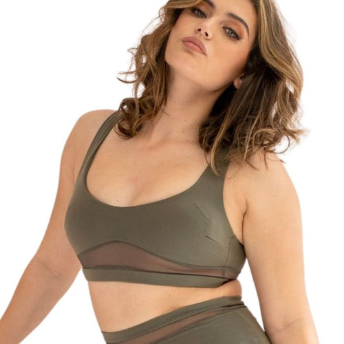 Dahlia Top in Khaki