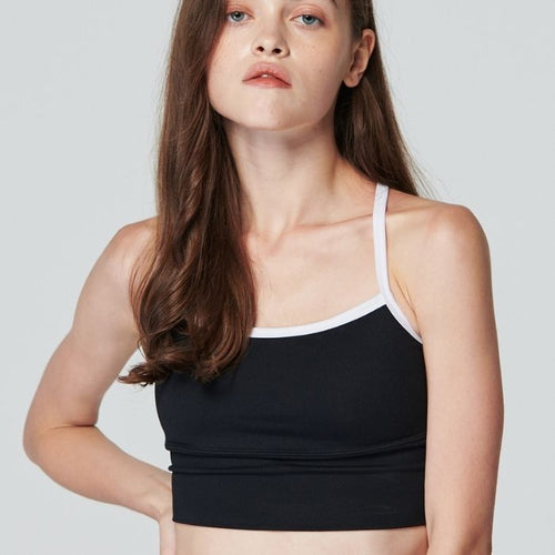 Hip Line Cami Bra in Black