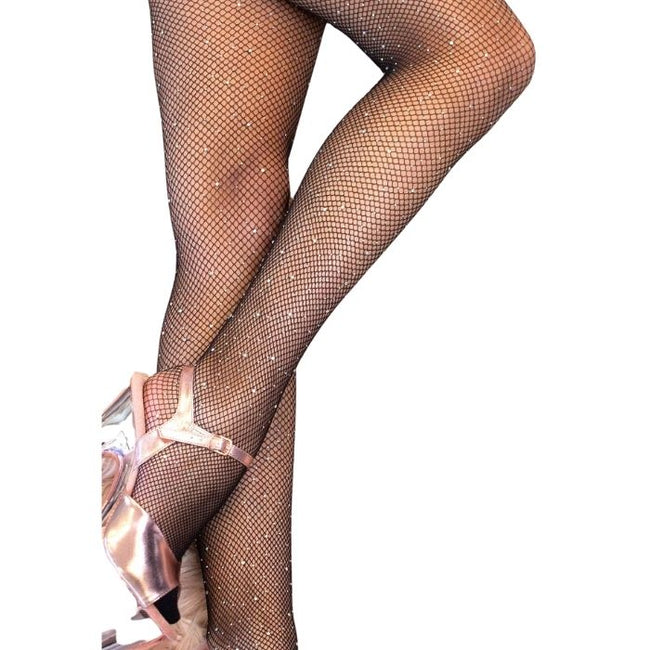 Fishnet AB Shine Diamonte Stockings in Black
