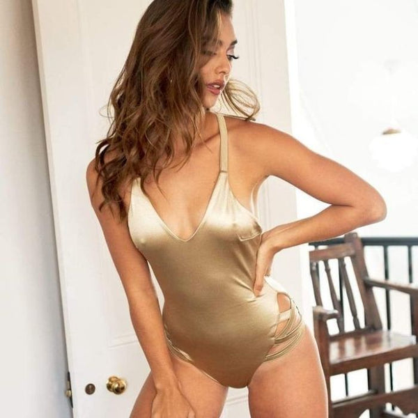 Yonce Bodysuit in Gold