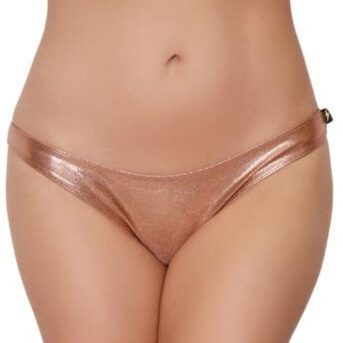 Metallic Scanty Pants - Rose Gold