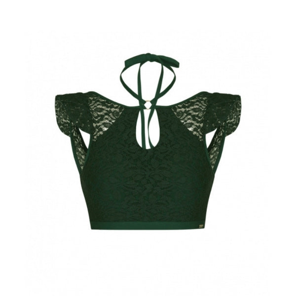 Feminine Lace Polkini Top - Green