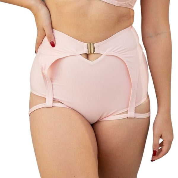 Zara High Waisted Shorts in Blush