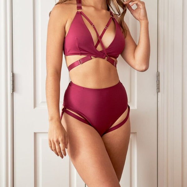 Amber Top in Burgundy