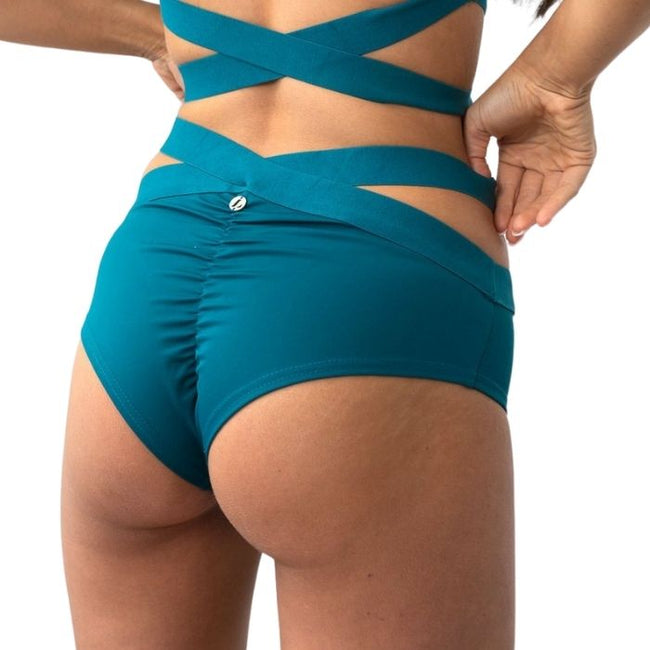 Tara Low Waisted Bottoms - Teal